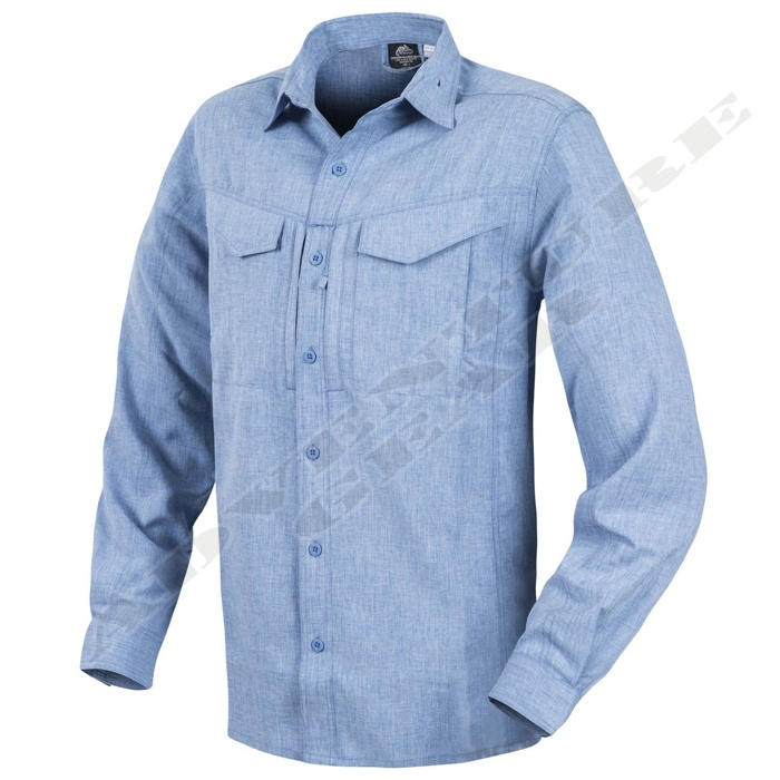 Defender Mk2 Gentleman Shirt Melange L. Blue