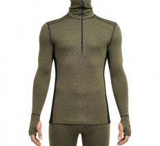 Merino X-Treme ½ zipper LS High Neck Shirt Black