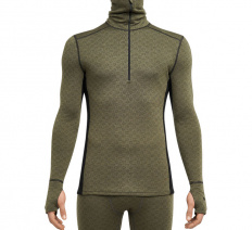 Merino X-Treme ½ zipper LS Turtleneck Shirt OD/Black